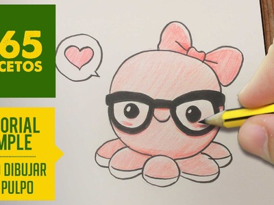 COMO DIBUJAR UN PULPO KAWAII PASO A PASO - Dibujos kawaii faciles - How to draw a octopus
