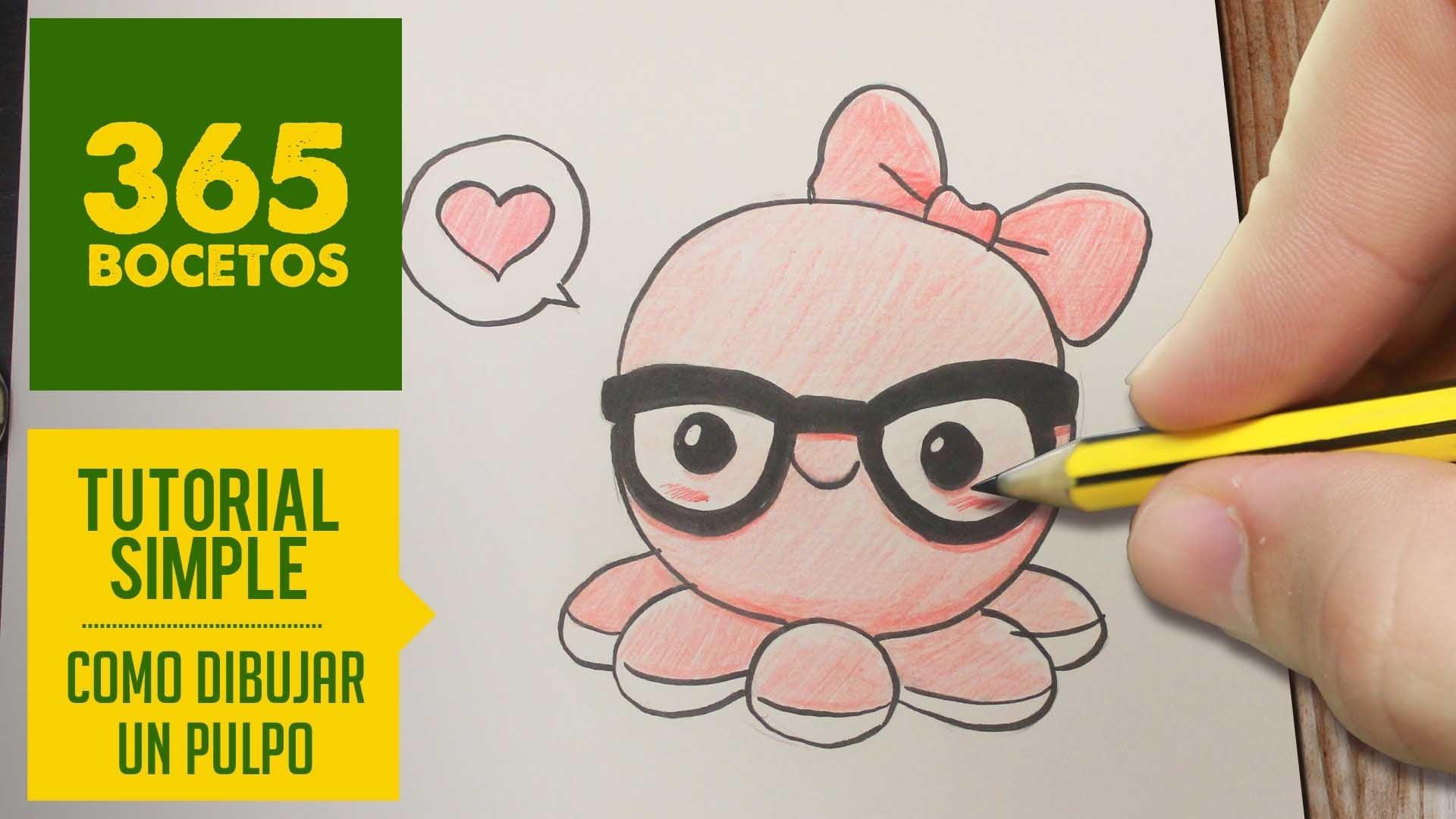 COMO DIBUJAR UN PULPO KAWAII PASO A PASO - Dibujos kawaii faciles - How to draw a octopus