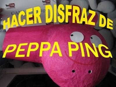 Como hacer disfraz casero y barato de PEPPA PIG !!!!!