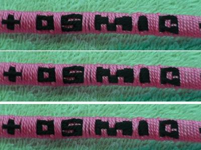 Como hacer letras para pulseras en hilo facil facil