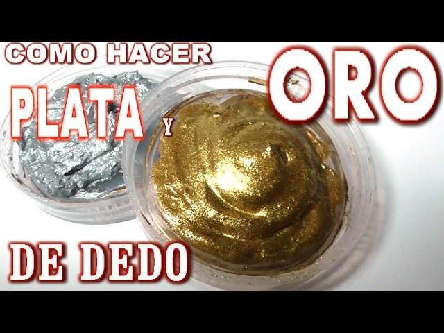 COMO HACER PÁTINA DE DEDO DORADA Y PLATA - HOW TO MAKE GOLD AND SILVER PATINA APPLIED FINGER
