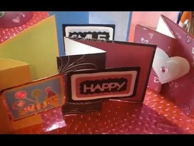 Como hacer tarjetas de felicitaciones - Manualidades faciles de tarjetas