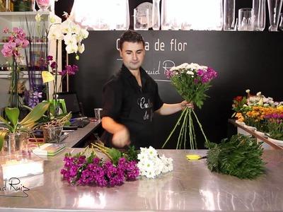 Cómo hacer un ramo de flores en espiral
