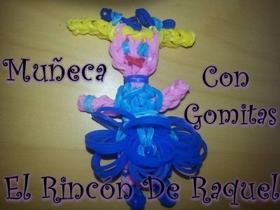 Como hacer una muñeca con gomitas rainbow loom