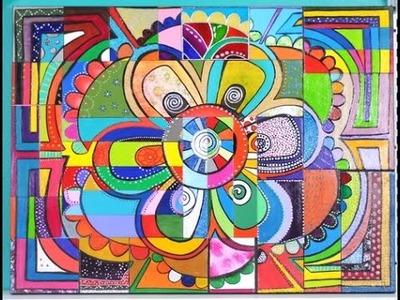 Como pintar un Mandala con Técnicas Mixtas