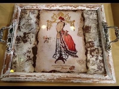Decoupage - Bandeja Romántica - Patricia Fernandez
