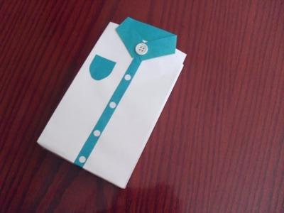 [DIA DEL PADRE] Bolsa de Regalo en forma de camisa [RECICLADA Y DECORADA]