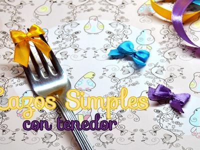 DIY : Como Hacer Lazos.Moños Simples Con Un Tenedor - Brotes De Creatividad