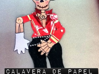 Esqueleto  de papel decórala para niños