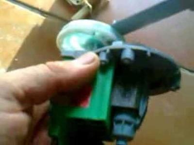 Generador de 220v con el motor de desague de una lavadora