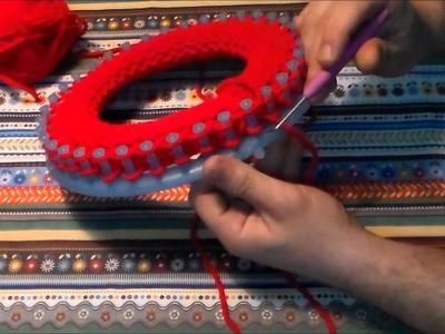 Gorro con base doble (telar circular)