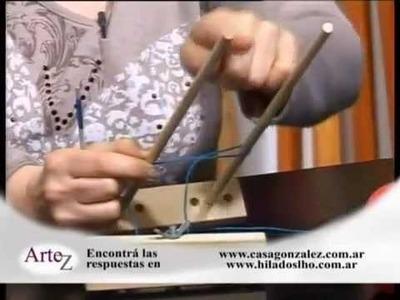 Hilados LHO en Artez TV. Cómo tejer una casaca con horquilla.