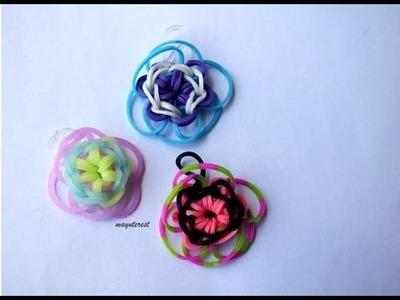Manualidades: FLOR de GOMITAS  para anillo, pulsera y collar | Flower charm