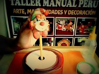 Manualidades para niños payasito  de porcelana fría