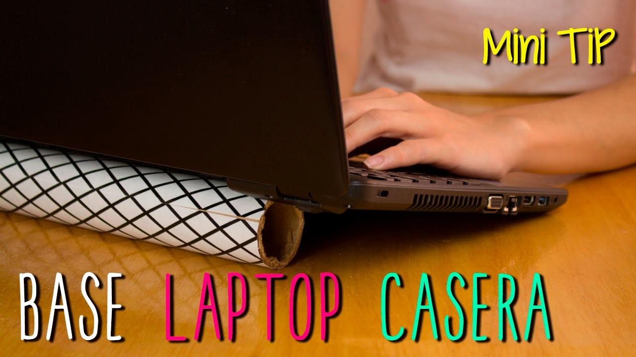 Mini Tip # 50 - Base Para Laptop Casera - de Tubo de Cartón Reciclado
