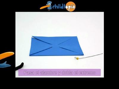 Molino de viento. Manualidades infantiles, manualidades con cartón