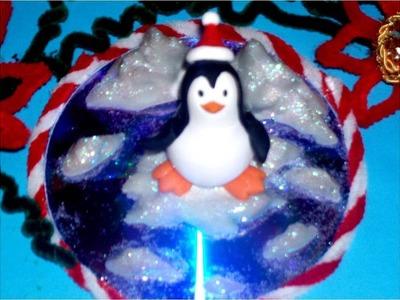 Porcelana fría pinguino sobre hielo paso a paso