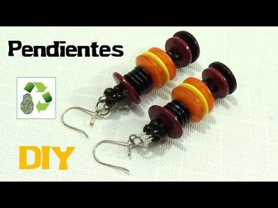 69. DIY PENDIENTES (RECICLAJE DE BOTONES)