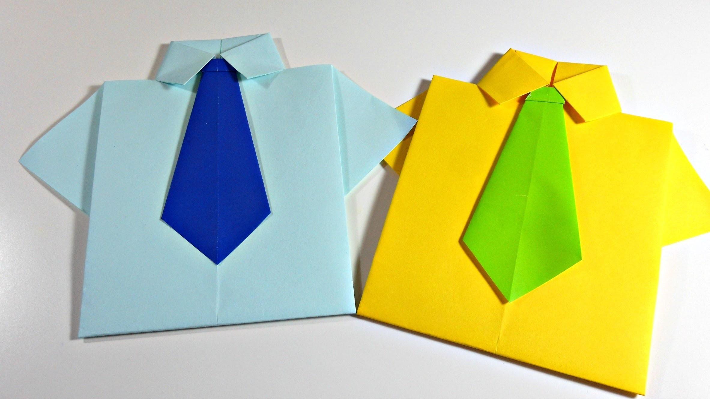 Camisa Origami - Shirt   Especial Día del Padre   Sobre para tarjeta   Mundo@Party