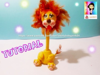 COMO HACER ANIMALITOS DE PASTA FLEXIBLE . LION COLD PORCELAIN