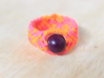 Como hacer un anillo en macrame Es.PandaHall.com