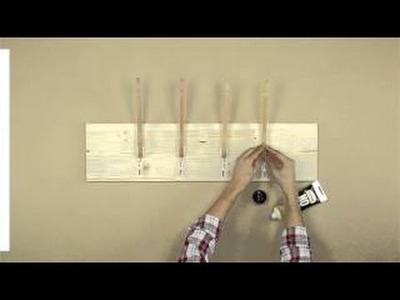 Cómo hacer un perchero fácil y rápido
