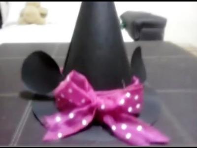 Como hacer un sombrero de bruja (extra estilo minnie)