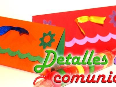 Detalle de comunión con golosina (bautizo o cumpleaños) - DIY - Detail of communion with candy