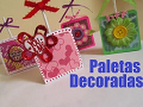 Detalle para SAN VALENTIN: Paletas decoradas