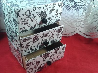 DIY : Cajonera.Organizador reciclando cajas