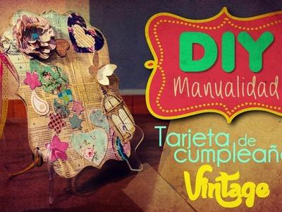DIY: Tarjeta de cumpleaños vintage