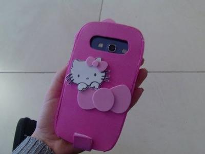Funda para el movil Hello Kitty con goma eva muy facil
