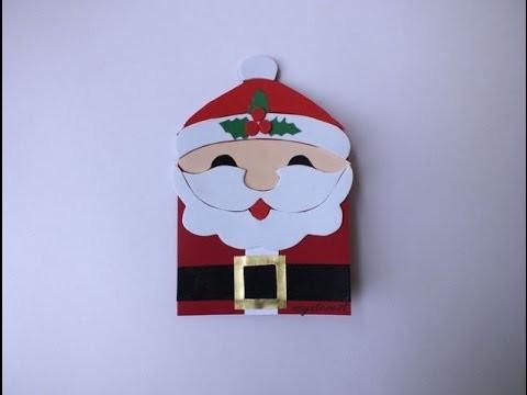 Manualidades Tarjeta De Navidad O Crisma De Papa Noel Christmas - Manualidades-de-tarjetas-de-navidad