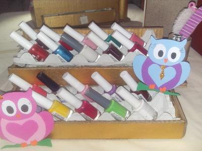 Organizador para esmaltes de uñas