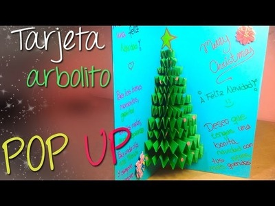 Tarjeta arbolito de Navidad Pop Up 3D || Tarjeta Navideña