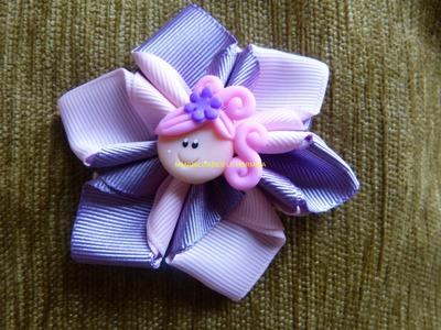 Tutorial flores para decorar moños lazos accesorios  para el cabello paso a paso video 271