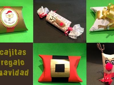 5 Cajitas de regalo de navidad con tubos de papel higienico