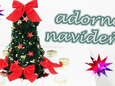 Adorno navideño ♥ ARBOLITO DE LANA ¡muy fácil! - especial navidad 2013