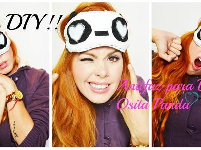 Antifaz (para dormir) Osita Panda DIY!-MON ♥