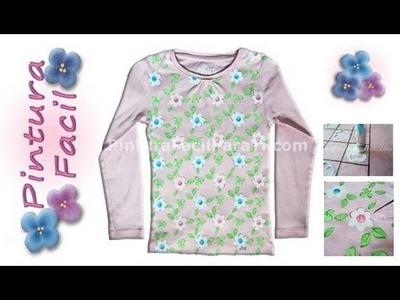 Camisetas con Flores 1 - Pintura Facil Para Ti.wmv