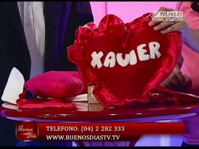 Cojin Corazón con Nombre | Cursos en Tela | Manualidades queternura.com