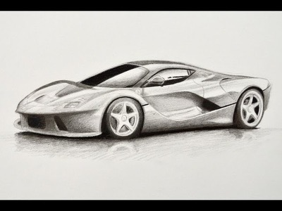 Cómo dibujar un carro: Ferrari - Arte Divierte.