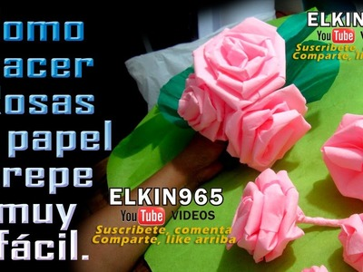 Como hacer lindas rosas en papel crepe 1 de 2