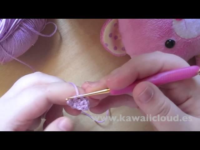 Como hacer orejas para amigurumi en semicírculo