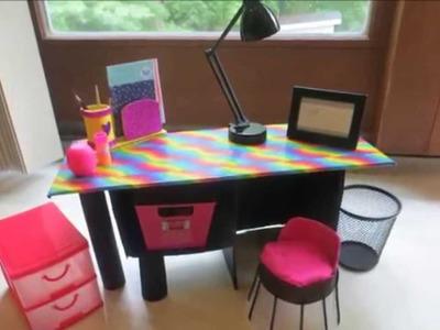 Cómo hacer un escritorio para muñecas y un organizador