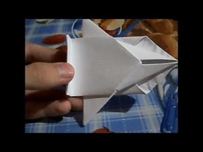Como hacer una nave espacial de papel, paso a paso.