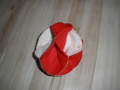 Como hacer una original bola de navidad con fieltro. Adornos. DIY