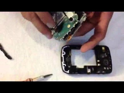 Como reparar una Blackberry 8520 de las bocinas (speakers)
