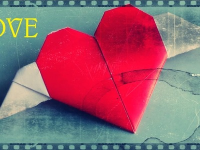 Corazón con alas de papel - Papiroflexia