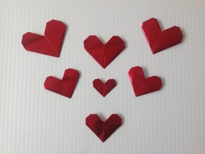 CORAZONES DE ORIGAMI.- ORGAMI HEARTS.